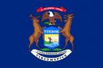 michigan,grands lacs,etats-unis,drapeau bleu des etats-unis,drapeau du michigan,drapeau michigan,detroit,kathryn bigelow,wapiti,élan,pygargue,pygargue à tête blanche